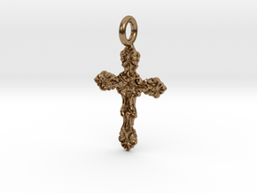Cross 11 Pendant in Raw Brass