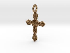 Cross 11 Pendant in Natural Brass