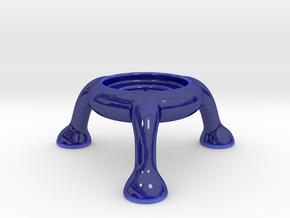 Explosive tealight holder (no horns) in Gloss Cobalt Blue Porcelain
