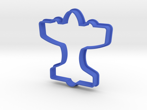 Airplane Cookie Cutter in Blue Strong & Flexible Polished