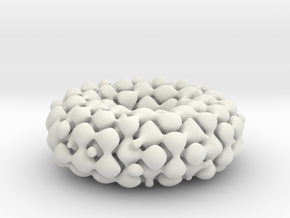 Möbius lattice (fat) in White Natural Versatile Plastic