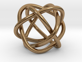 4 rings in Natural Brass (Interlocking Parts)