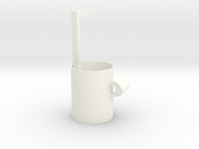 Containing straw mug in White Strong & Flexible Polished