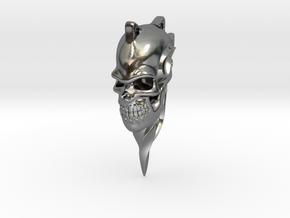 Swirl Skull in Polished Silver