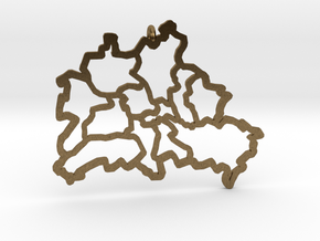 Berlin Pendant in Natural Bronze