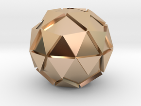 Extrude Circle Pendant in 14k Rose Gold Plated Brass