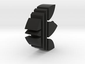 愛迪達吊飾.stl in Black Strong & Flexible: Small