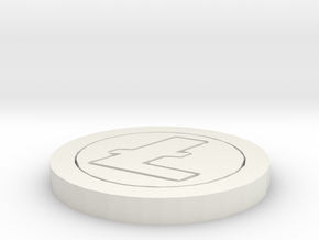 Litecoin Model in White Natural Versatile Plastic: Medium