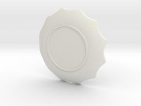 盤子.stl in White Strong & Flexible: Small