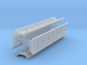 EQ23A Sand Channels (set of four) (1/87) in Smooth Fine Detail Plastic
