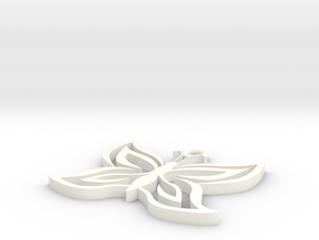 Butterfly Pendant in White Strong & Flexible Polished