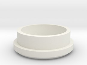"Charging Cap - 1"" Thin Wall Blank  in White Natural Versatile Plastic"