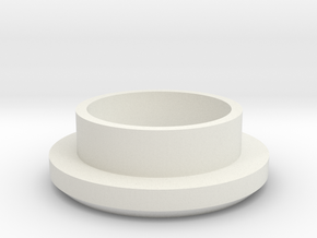 "Charging Cap - 1"" Thick Wall Blank  in White Strong & Flexible"