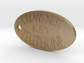 Titanic's Crow's Nest Telephone Key Tag in Polished Gold Steel