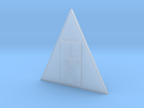 Eiffel Tower In A Triangle Button in Smooth Fine Detail Plastic
