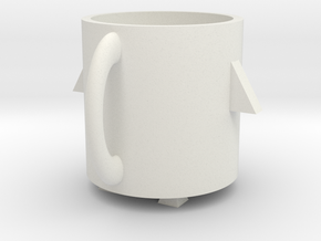 Rocket mug in White Natural Versatile Plastic