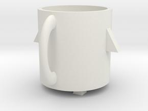 Rocket mug in White Natural Versatile Plastic