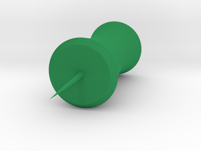 Bamboo Pushpin in Green Processed Versatile Plastic