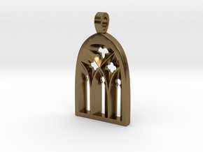 Cathedral Pendant in Polished Bronze