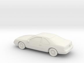 1/43 1990 Ford Thunderbird in White Natural Versatile Plastic