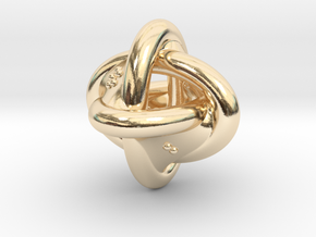 Unusual twisted D8 (rings) in 14k Gold Plated Brass: Extra Small