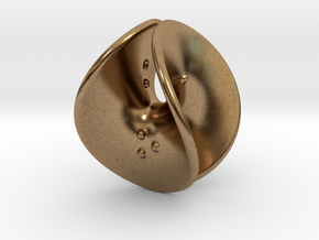 Enneper D4 (negative counterweights) in Natural Brass: Extra Small