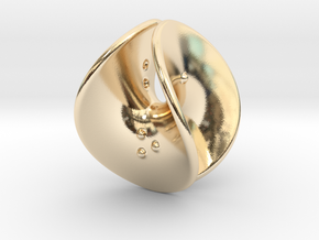 Enneper D4 (negative counterweights) in 14k Gold Plated Brass: Extra Small