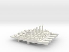 Tribal-class frigate x 5, 1/2400 in White Natural Versatile Plastic