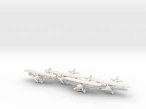 Hawker Hart planes set 1 (4 airplanes) 1/285 6mm in White Strong & Flexible