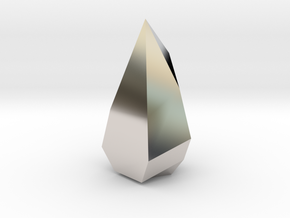 Low poly Crystal in Platinum