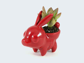 Ceramic Tepig in Gloss Red Porcelain