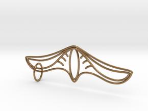 K Pendant in Natural Brass (Interlocking Parts)