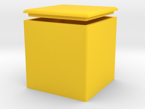 Storage chairs in Yellow Processed Versatile Plastic