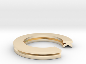 K Ring in 14K Yellow Gold: 4 / 46.5