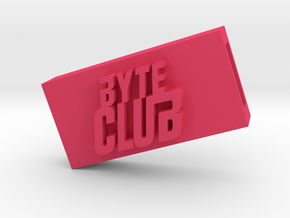 Byte Club Flash Drive Case in Pink Processed Versatile Plastic