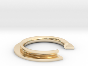 J Ring in 14K Yellow Gold: 4 / 46.5