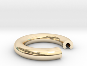 C Ring in 14K Yellow Gold: 4 / 46.5