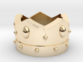 Crown in 14k Gold Plated Brass