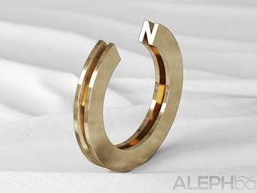 N Ring in Natural Bronze: 6 / 51.5