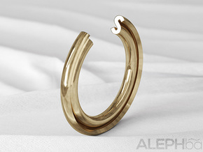 S Ring in Natural Bronze: 6 / 51.5