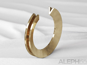 V Ring in Natural Bronze: 6 / 51.5