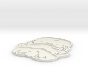 Stormtrooper Keychain in White Natural Versatile Plastic