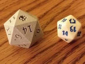 D20 Swamp in Metallic Plastic