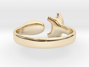 Cat Ring 1 in 14K Yellow Gold: Small