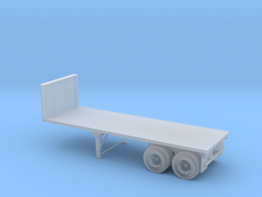 N-scale 25' Flatbed Tandem Axle Trailer in Smoothest Fine Detail Plastic