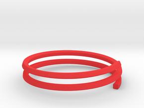 Bracelet GH Large in Red Processed Versatile Plastic