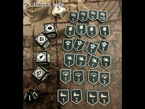 KDM Armor Tokens (12 pcs) in Full Color Sandstone