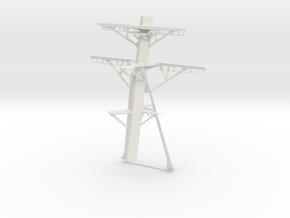 1/72 Burke Main Mast in White Natural Versatile Plastic