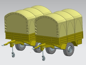 2 x Anhänger Trailer 1:160Spur N in Frosted Ultra Detail