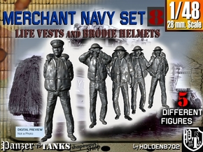 1-48 Merchant Navy Set 8 in Smooth Fine Detail Plastic
